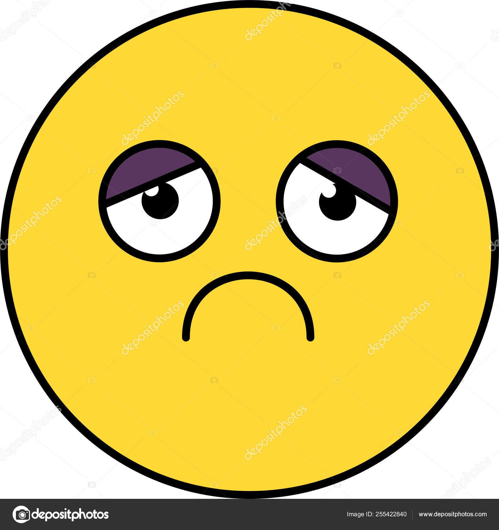 Triste Deprimido Emoji Ilustração Vetores De Stock