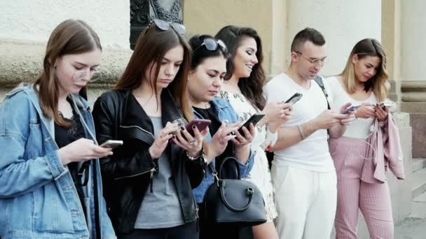 People using the mobile phone, surf the Internet, play the game and use the app