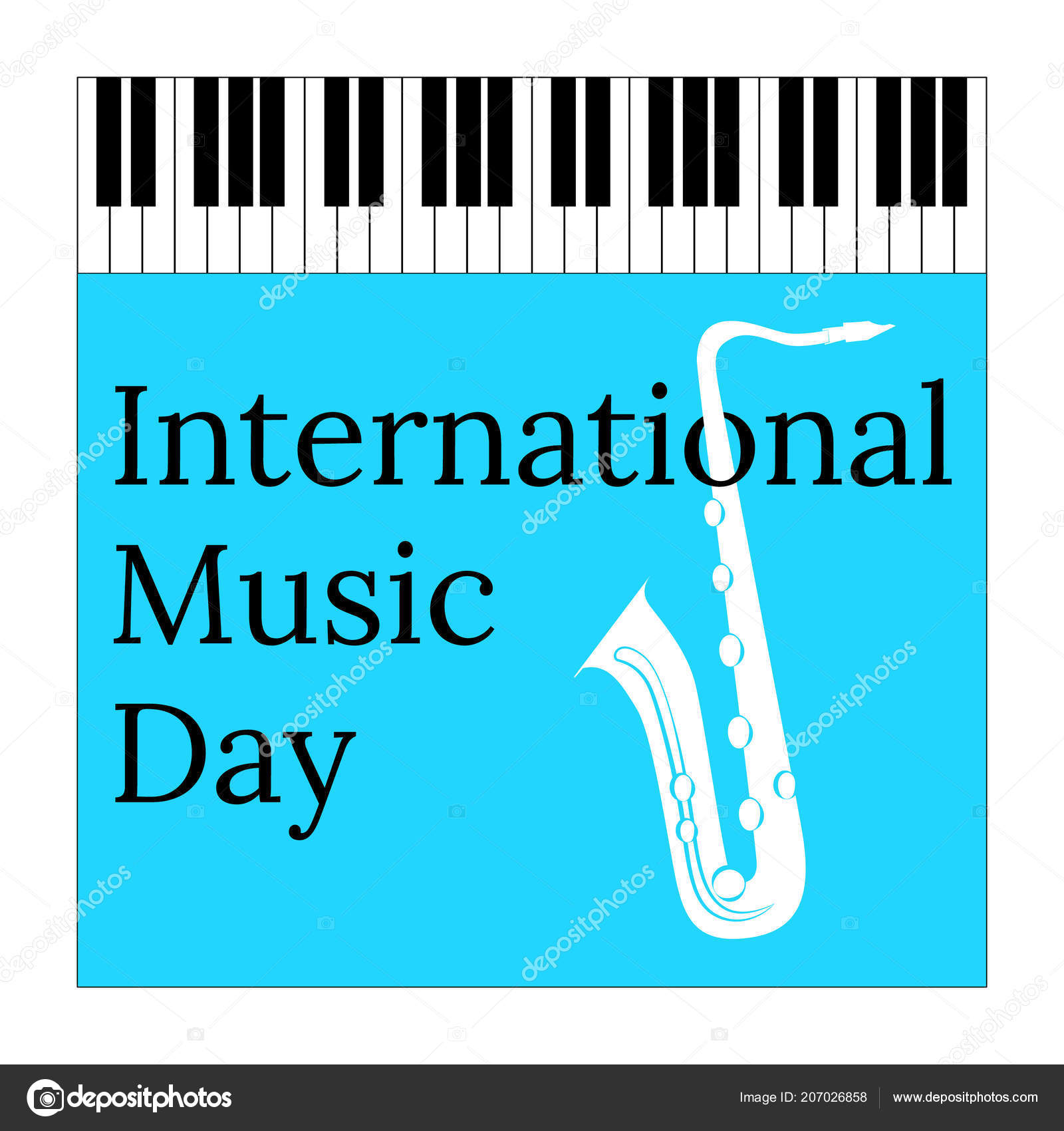 International Music Day October Concept Cultural Holiday