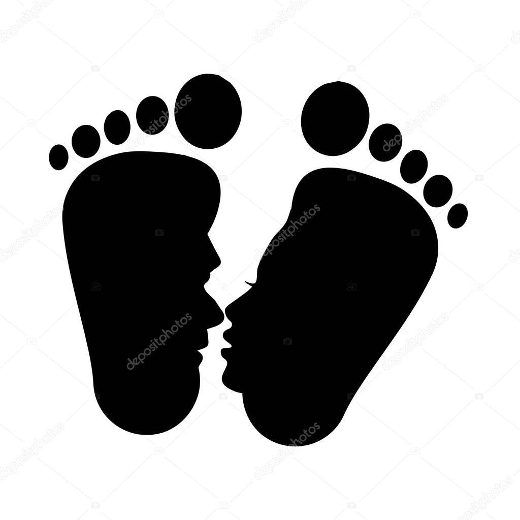 kissing romantic feet vector or icon negative space premium vector in adobe illustrator ai ai format encapsulated postscript eps eps format wdrfree
