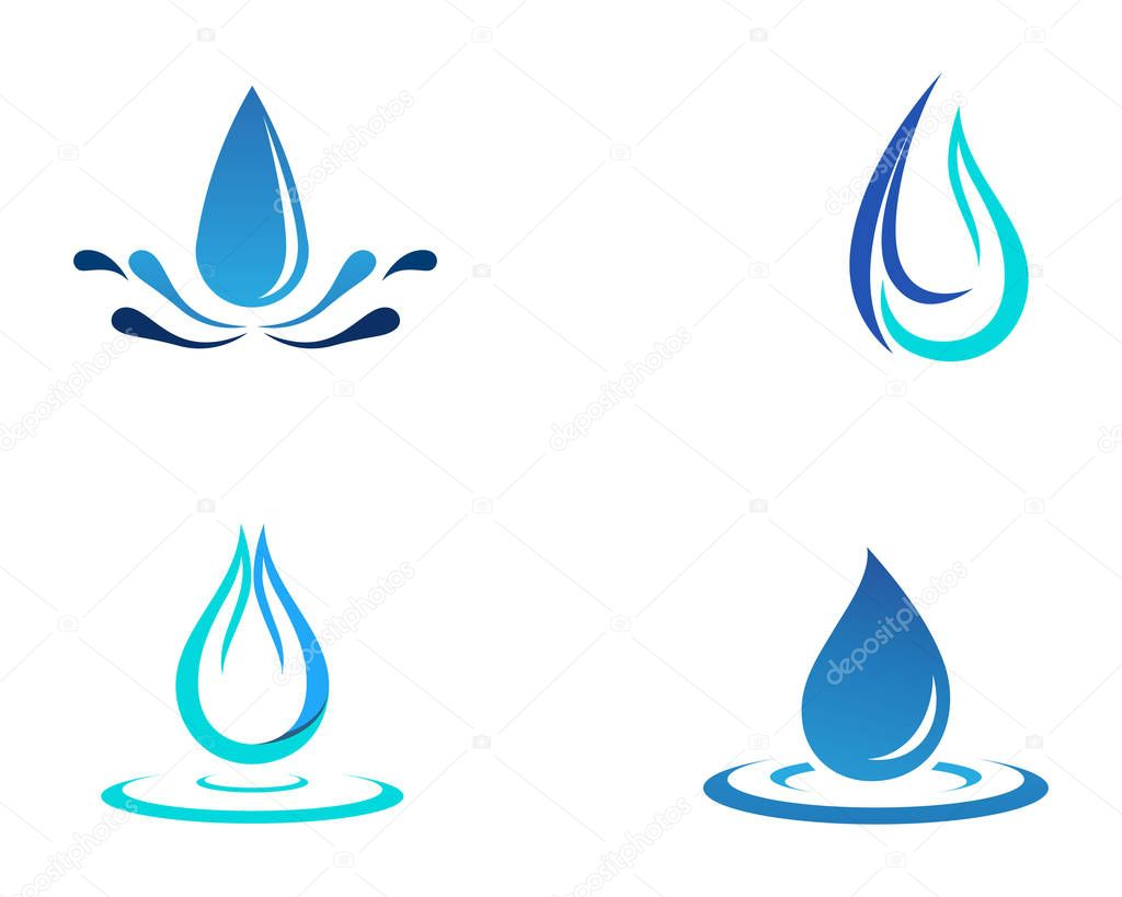 Water drop vector icon template
