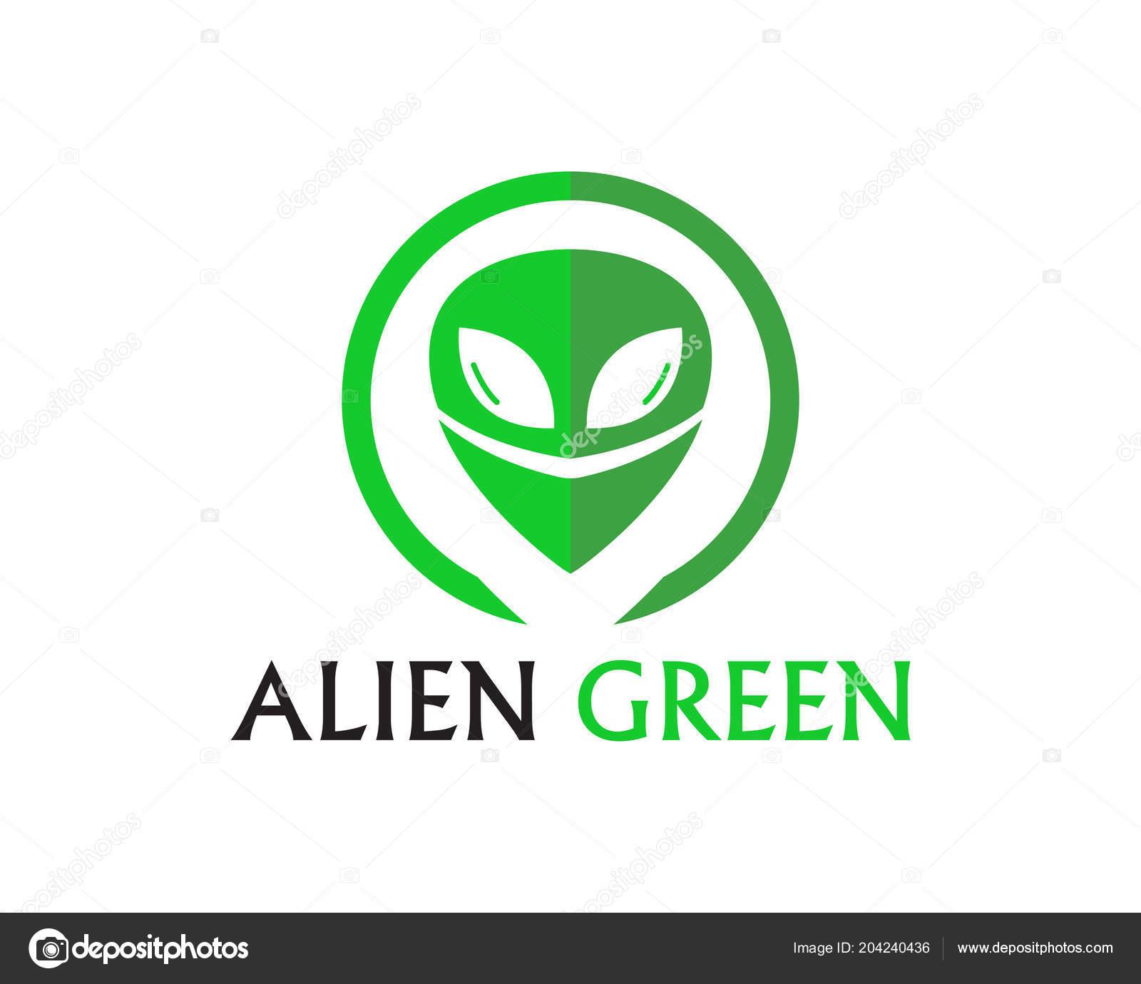 Alien Face Icon Vector Logo Symbols Template Stock Vector