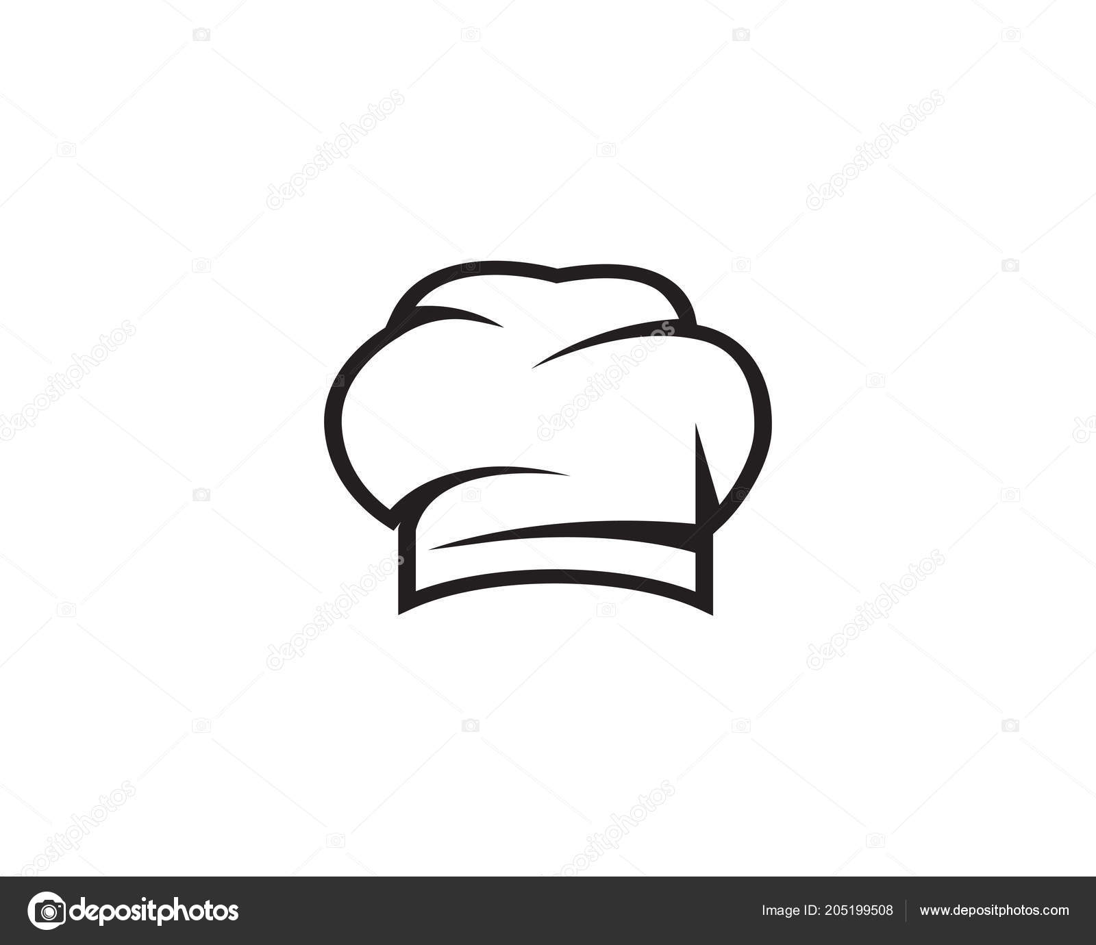 Chef Hat Logo And Symbols Black Color Vector By Hatigraphic