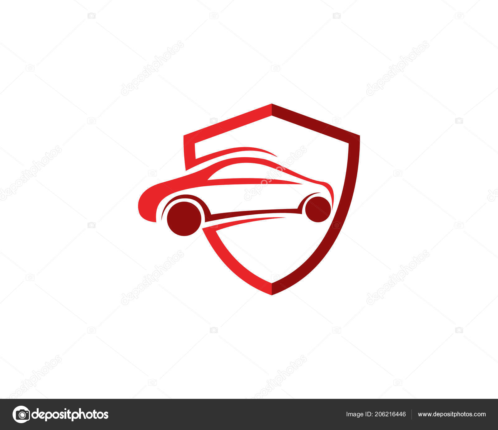 Auto Car Logo Templat Stock Vector C Hatigraphic 206216446
