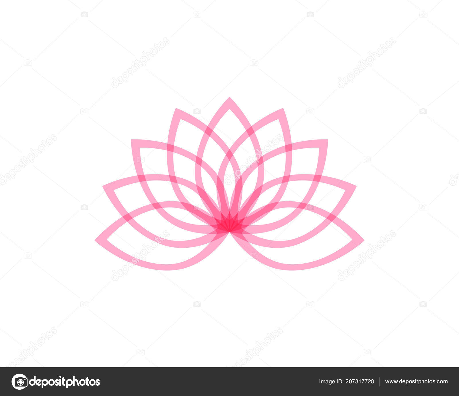 Lotus Flower Logo Symbols Vector Template Icons Stock Vector C Hatigraphic 207317728