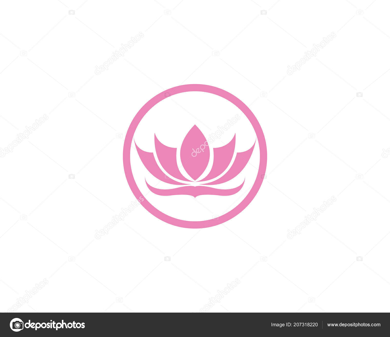 lotus flower logo symbols vector template icons stock vector