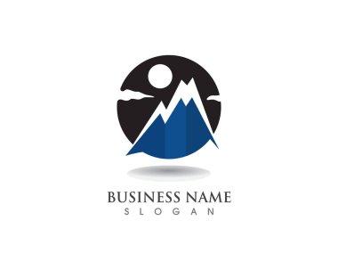 Mountain logo and symbols vector