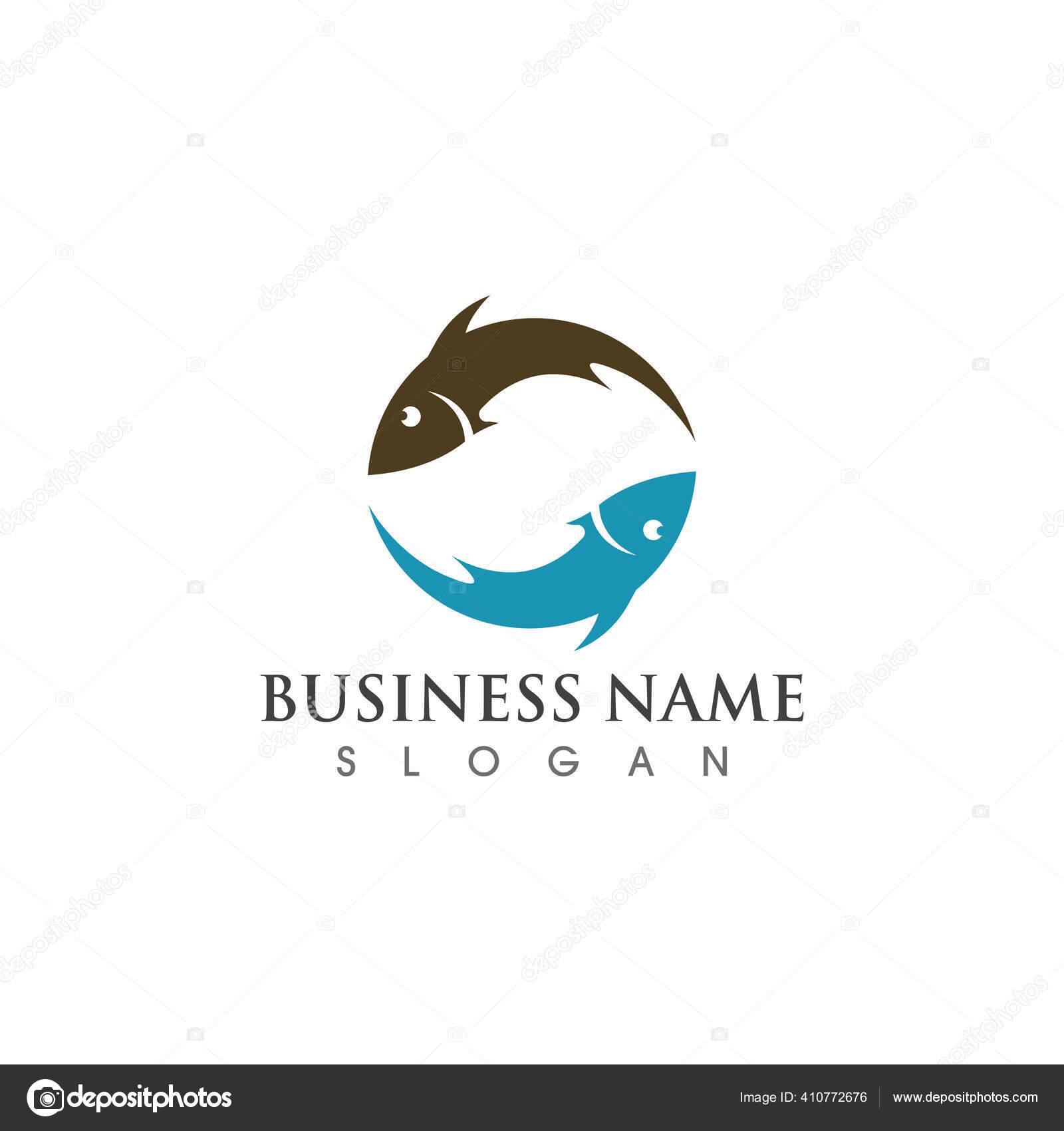 Logo Ikan Dan Simbol Vektor Simbol Stok Vektor C Hatigraphic 410772676