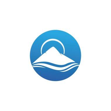 Mountain icon Logo Template Vector illustration design icon