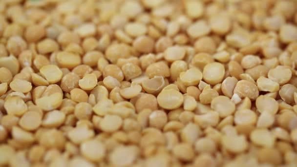 dry yellow peas close-up