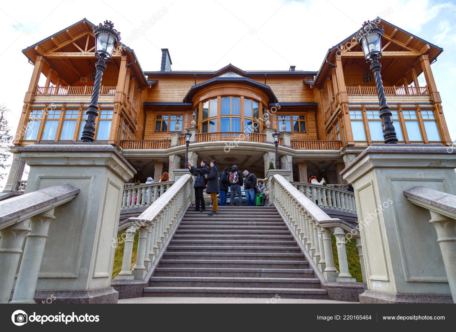 Casa Madera Honka Parque Mezhyhirya Residencia Del Presidente