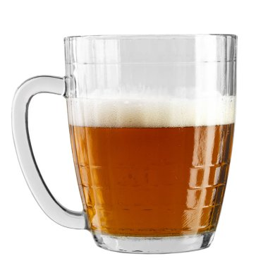 beer glass isolated