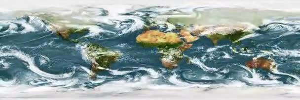 A csapadék egyensúlyi térképe a Föld bolygóján. Zökkenőmentes animáció. A kép elemeit a NASA bocsátotta rendelkezésre