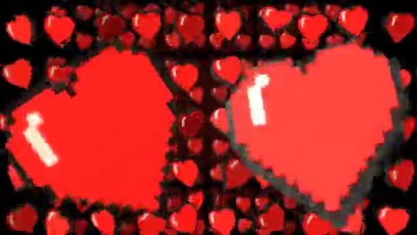 pixel art graphic heart
