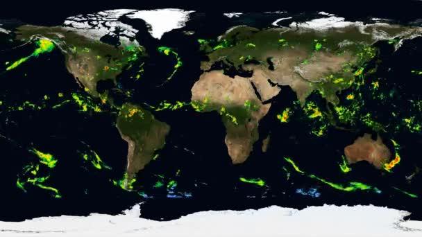 Egyenlő szögű időeltolódás térképe a földi bolygó csapadékáról. Elemei ezt a képet által nyújtott Nasa