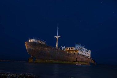 Mysterius abandoned ship in Lanzarote, Spain
