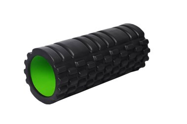 Foam Roller Gym Fitness Equipment Blue Isolated on White Background for masage