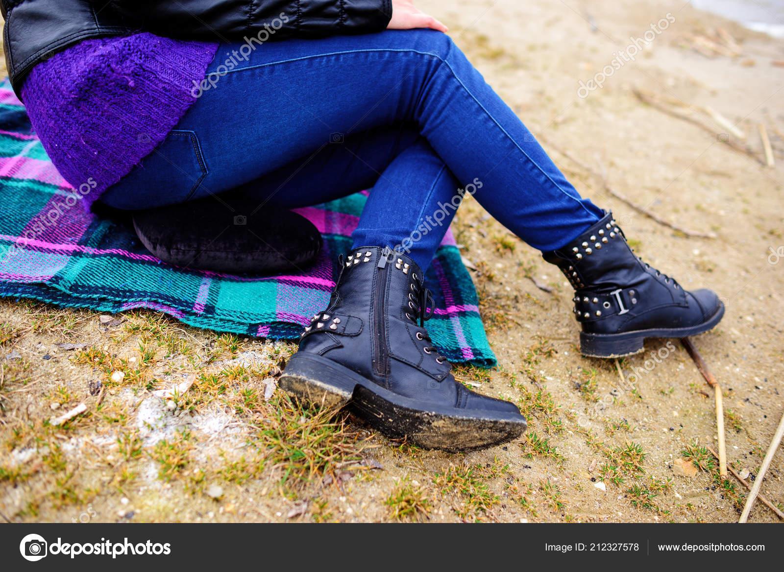 Azules Pantalones Pies Mujeres Invierno Vaqueros Botas Negro Las x6S8IqSw4