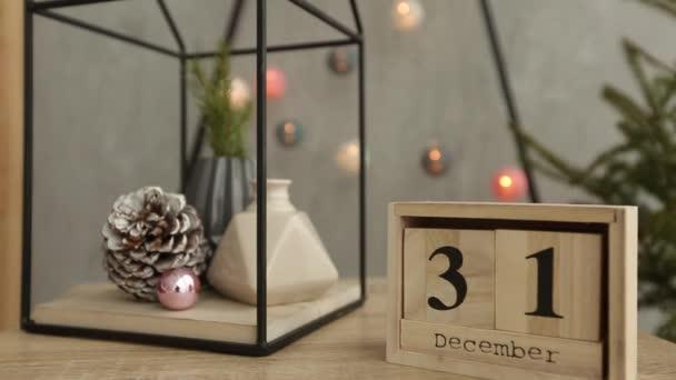 Stijlvolle kerst scandinavische interieur details. comfort thuis met