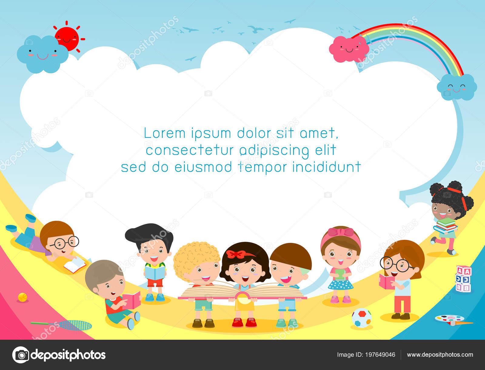Volver Escuela Niños Escuela Concepto Educación Niños Libros ...