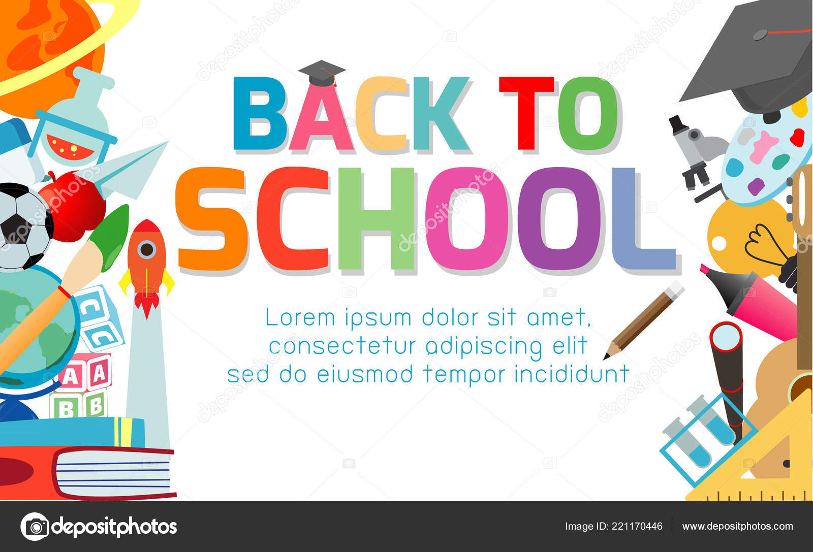 Background School Banner Back School Banner Background Welcome Back School Children Reading Book Stock Vector C Phanuchat10700 Gmail Com 221170446