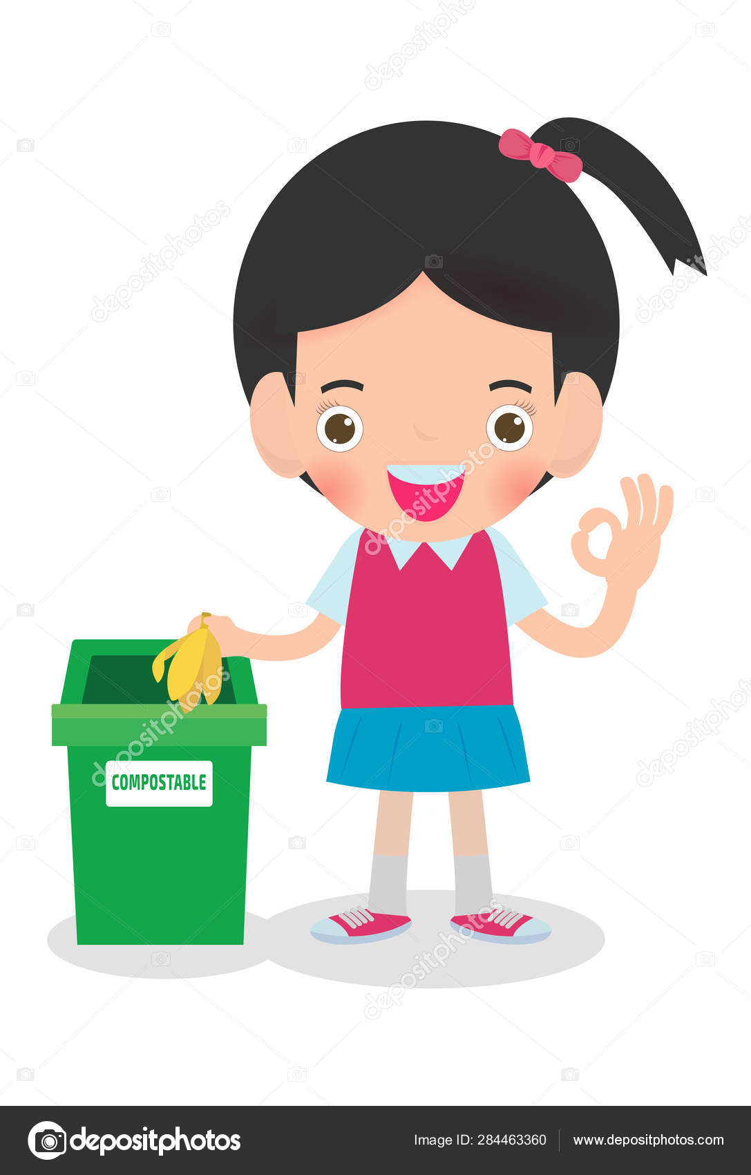 Cute Boy Holding Garbage Bag Royalty Free Cliparts, Vectors, And Stock  Illustration. Image 62040983.