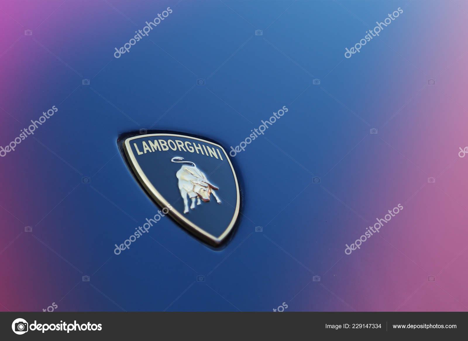 Moscu Otono 2018 Logo Lamborghini Campana Foto Editorial De Stock