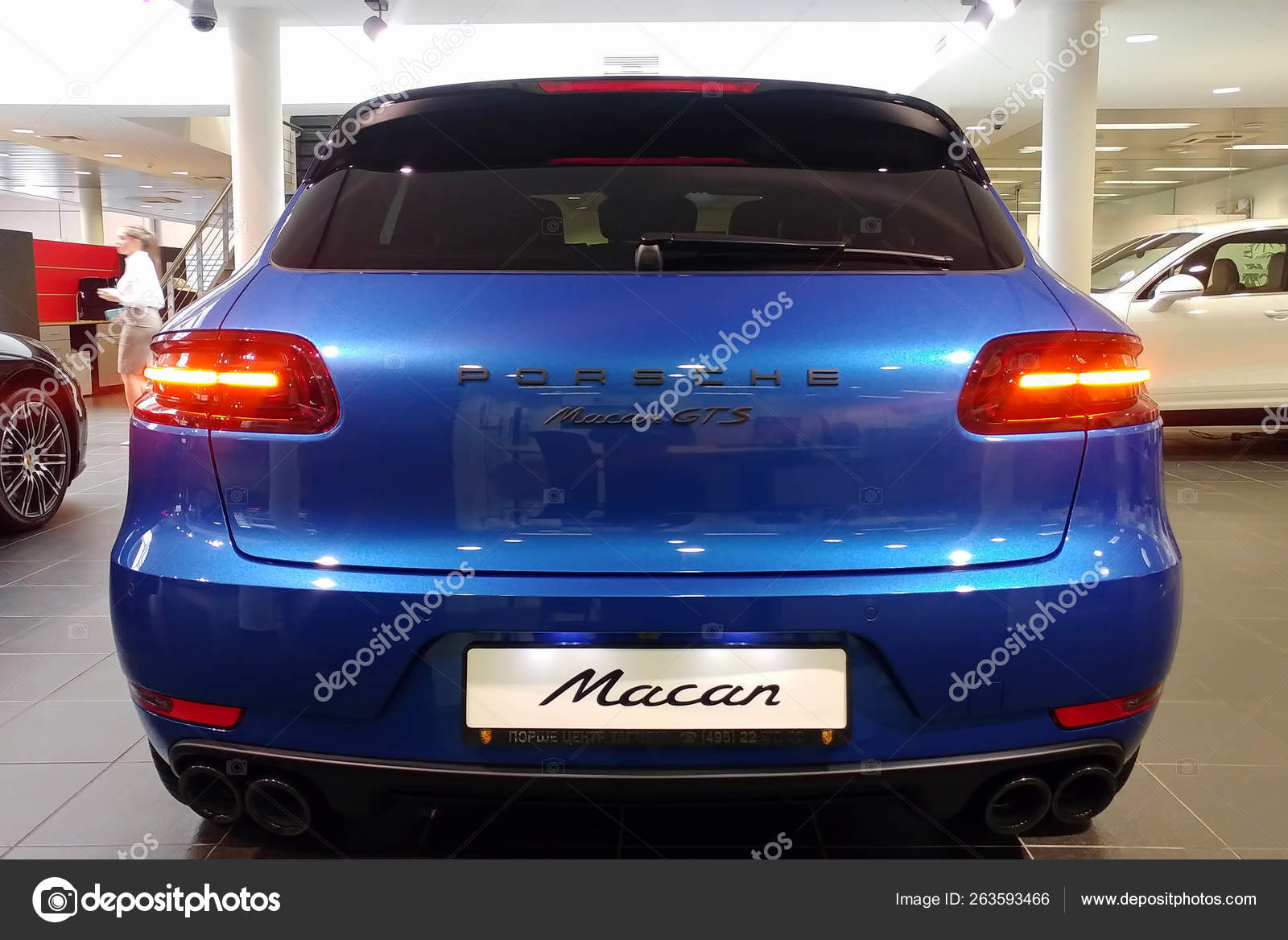 Moscow, Russia , April 22, 2019 Back view, Trunk lid, rear