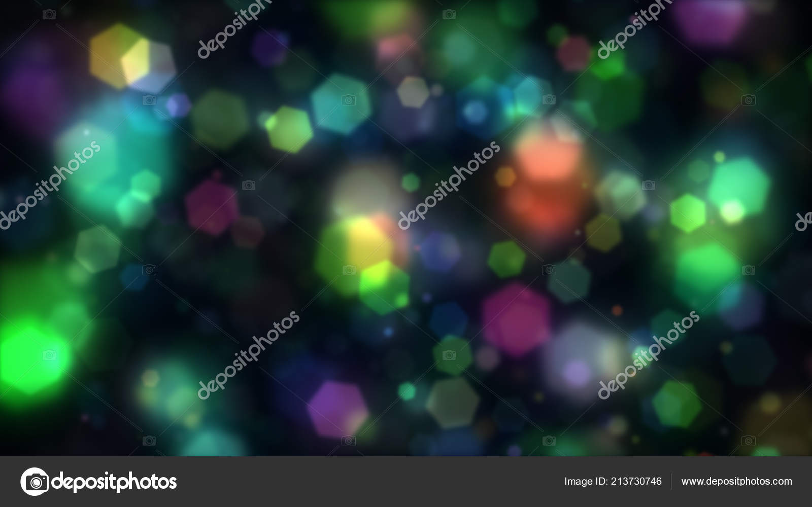 Abstract Background Colorful Hexagons Generating Cool Bokeh