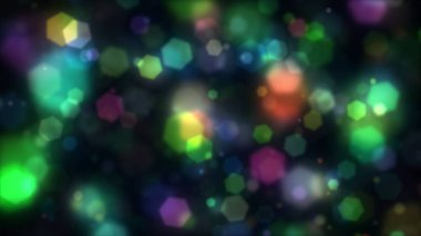 Abstract Background colorful Hexagons generating cool bokeh light effect. 8K Ultra HD Resolution at 300dpi