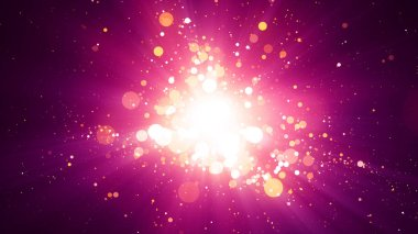 Background with abstract particles and shining light rays. 8K Ultra HD Resolution at 300dpi