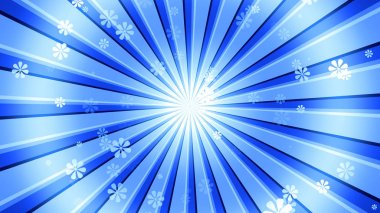 Retro sunburst Background with abstract flower particles and light rays. 8K Ultra HD Resolution at 300dpi