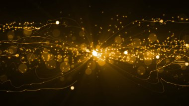 Abstract Background with glittering light particles and streaks. 8K Ultra HD Resolution at 300dpi