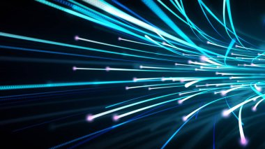 Optical fiber data background which can be used for any technology,data,corporate and scientific presentations.