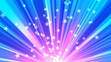 Glowing stars and light rays for celebration and parties and us patriotic events. Its a multipurpose background suited for broadcast, commercials and presentations