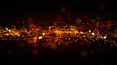 Glittering particles with magical streaks which is suited for broadcast, commercials and presentations.