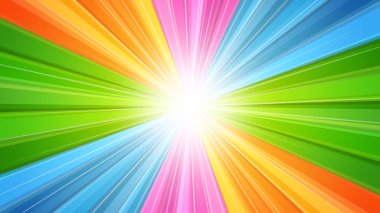 Sunburst with light rays background which is suited for broadcast, commercials and presentations