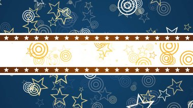 US Patriotic retro background with floating stars and stripes