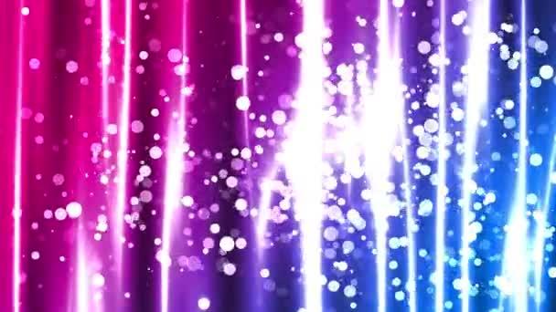 Absztrakt világos csíkok csillogó részecskéket animáció, amely alkalmas adás, a reklámok és a bemutatók. A divat, fotózás, vagy vállalati animációk is használható.