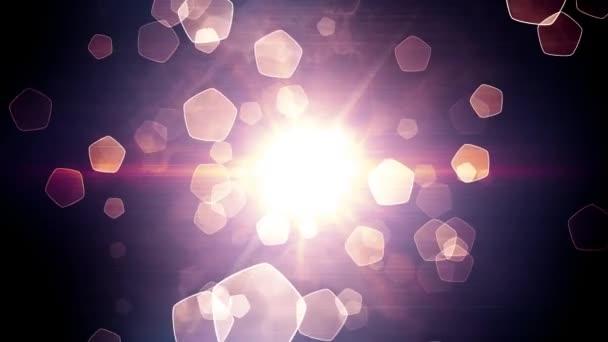 Abstraktní Pentagonu ve tvaru lehké částice v animaci pohybu tunel, který je vhodný pro vysílání, reklamy a prezentace. Lze použít také v módě, fotografie nebo firemní animace