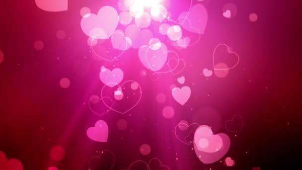 Valentýna a svatební srdce pozadí animace vhodný pro vysílání, reklamy a prezentace. Lze také použít v Valentýna videa a svatební video.