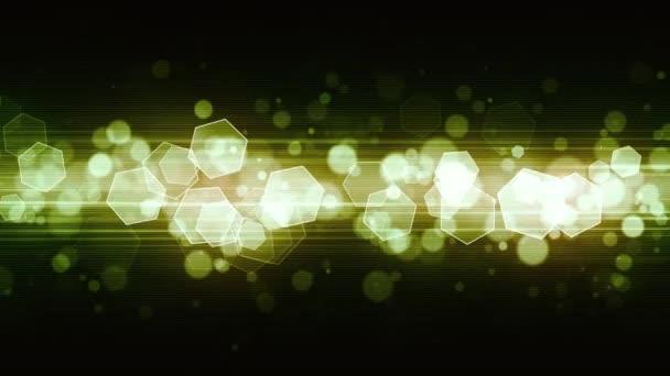 Glühende ausgestrahlt Licht Sechsecke bewegte Animation die für Broadcast, Werbung und Präsentationen geeignet ist. Es kann auch in der Mode, Fotografie oder Corporate Animationen verwendet werden