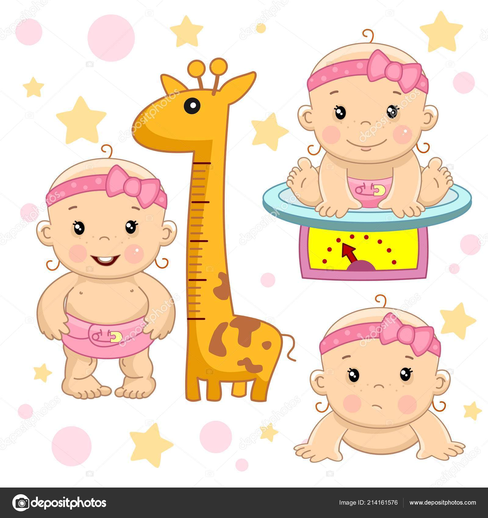 Set Immagini Bambini Piccoli Delle Ragazze Del Bambino Disegno