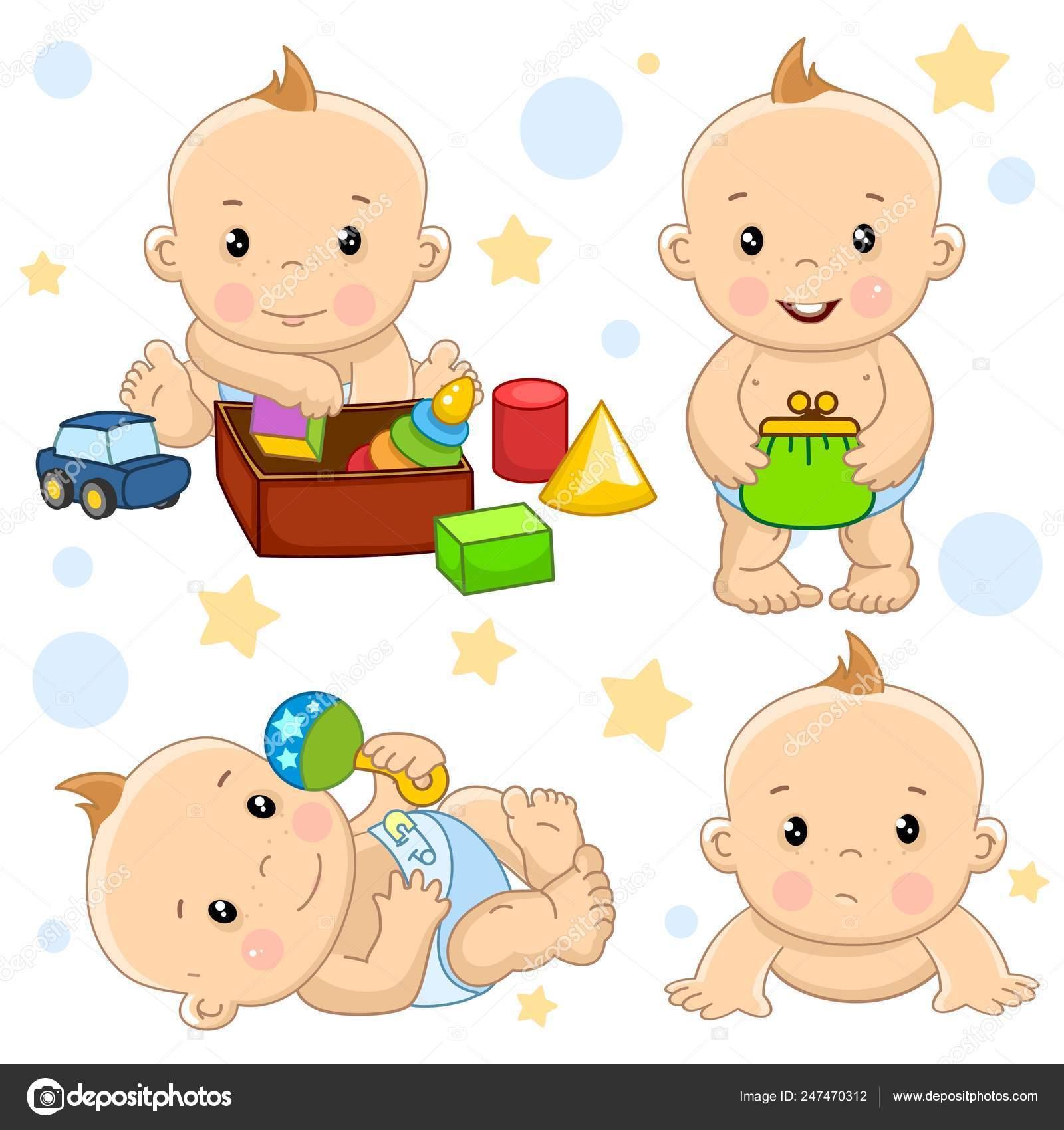 Ilustraciones Diseño Nacido Niño Para Niños Recién Conjunto Pequeño QdCoeExBrW