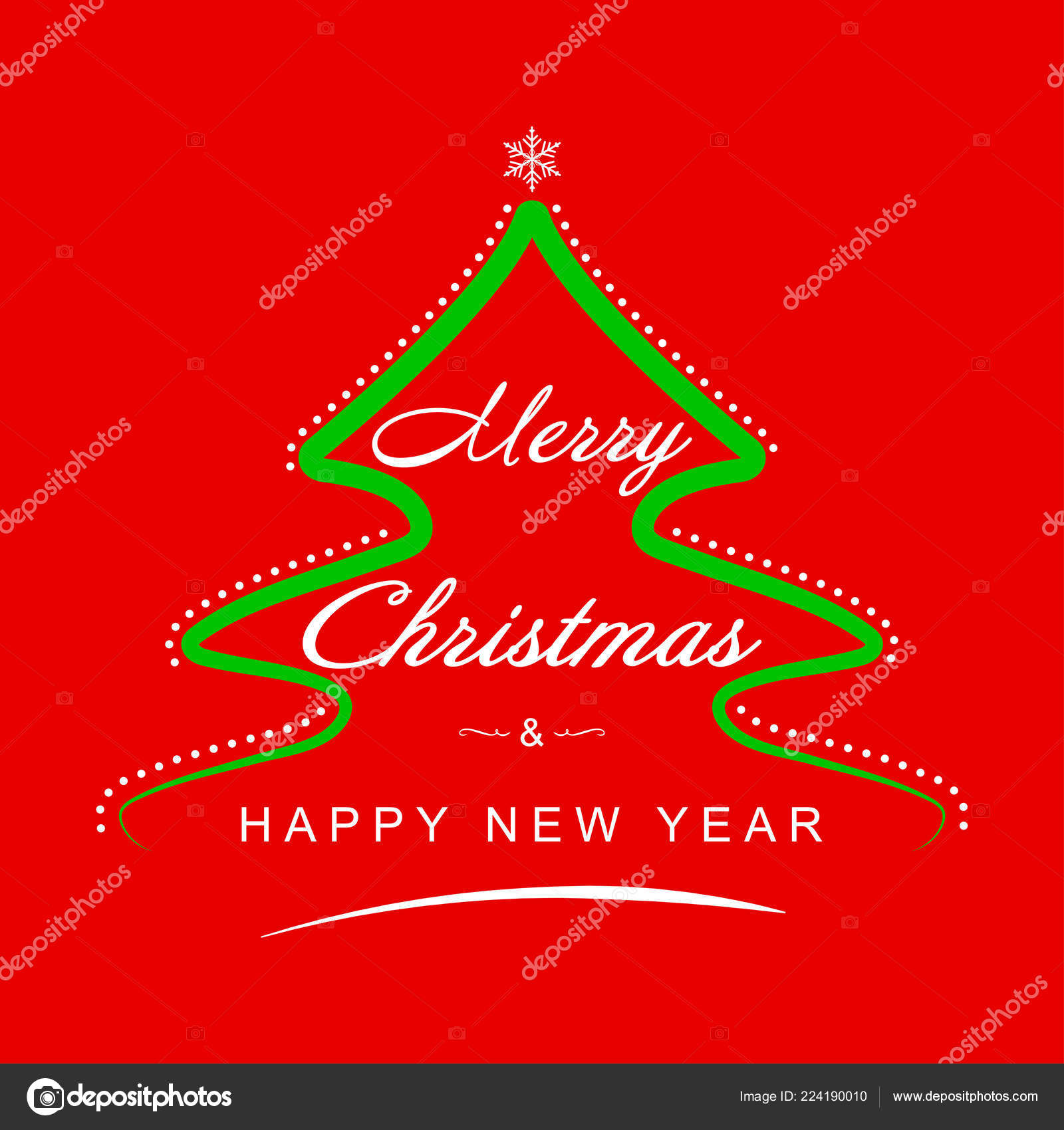 Christmas background. Christmas greeting card template with wishes ...