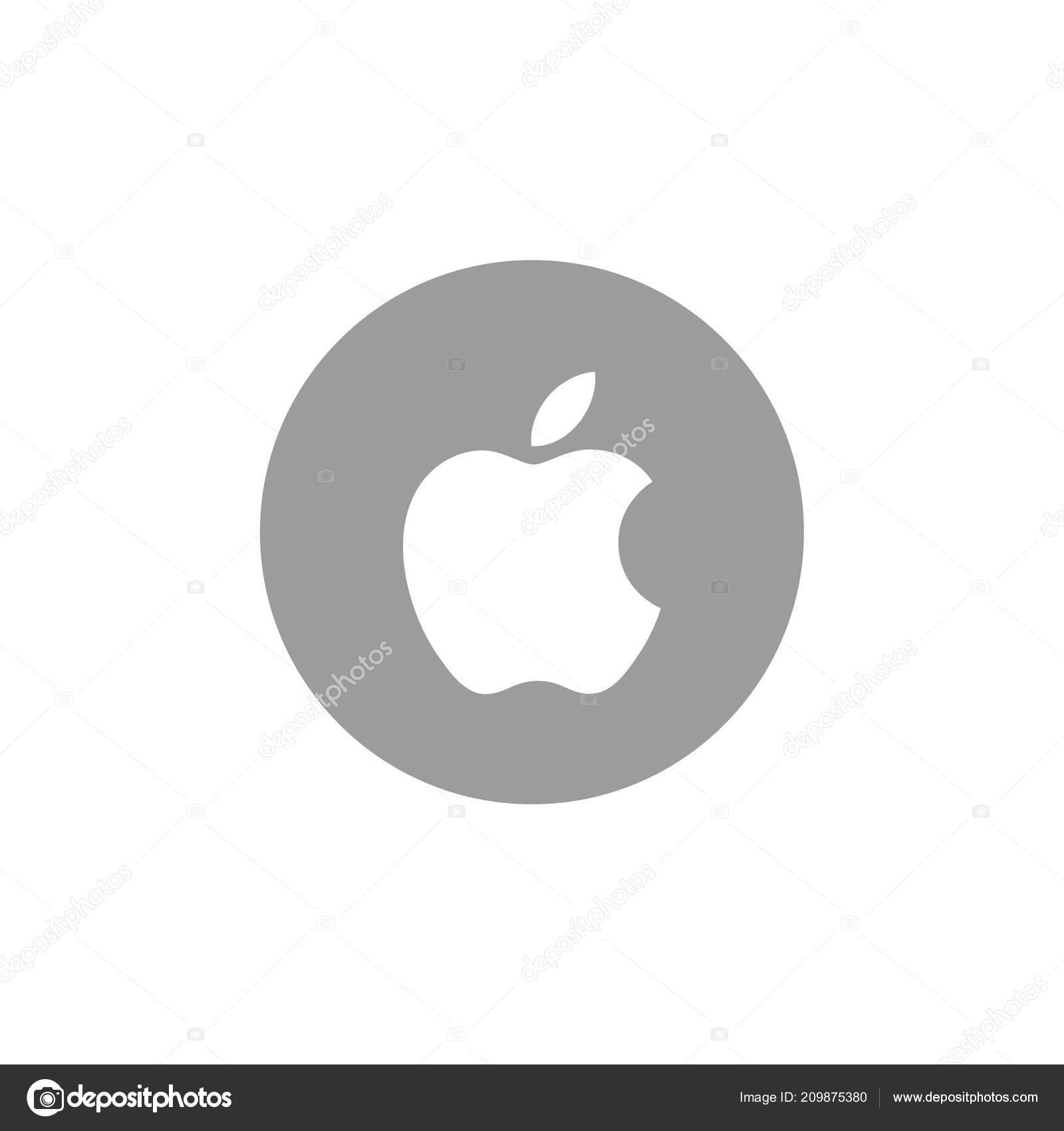 Apple Logosu Beyaz Arka Plan üzerinde Stok Vektör Rteuman 209875380