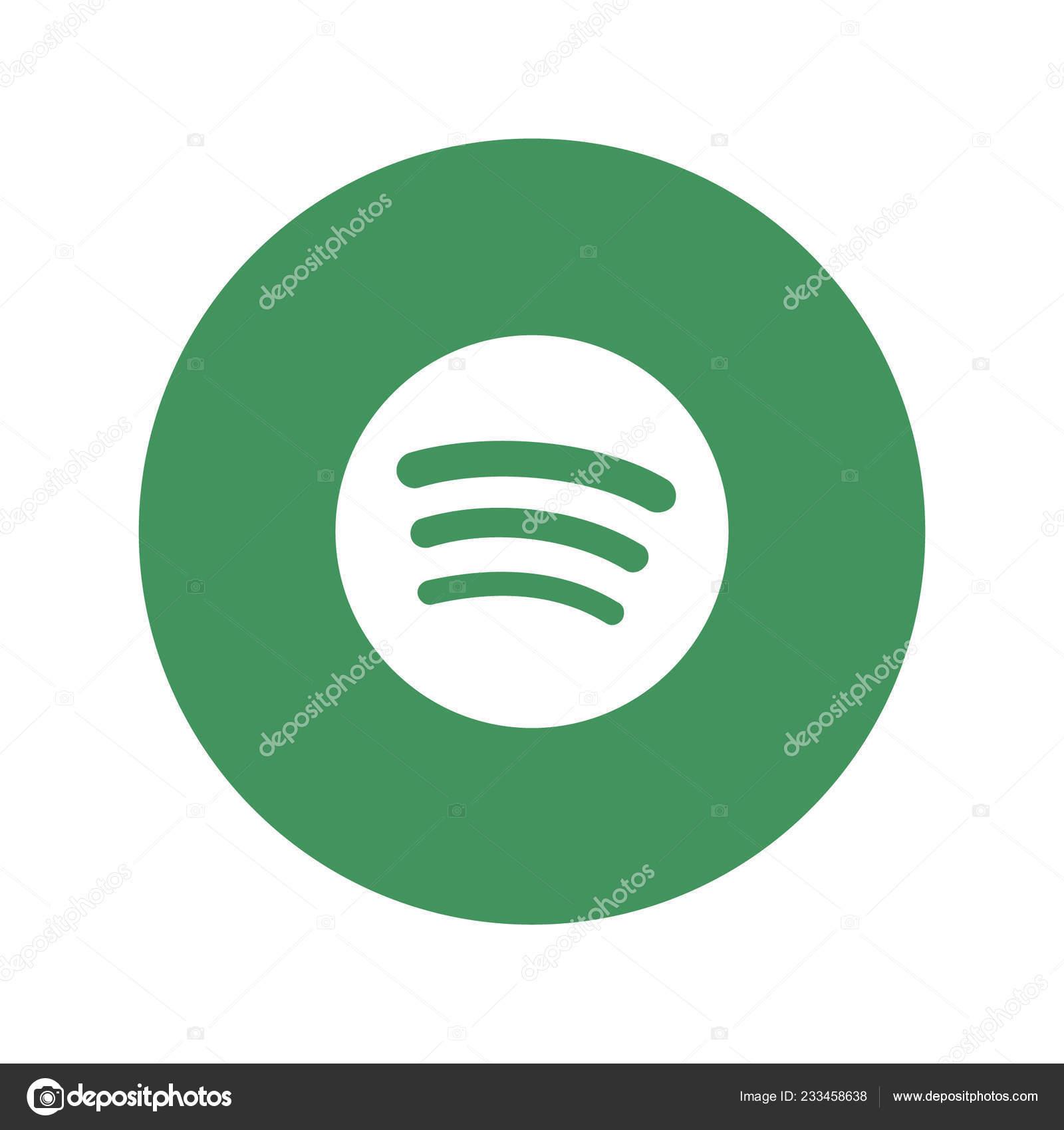 Spotify Logo White Background — Stock Vector © rteuman