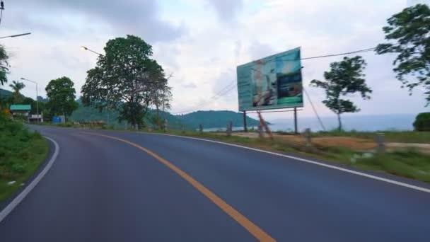 jízdu na silnici, asfaltová silnice.
