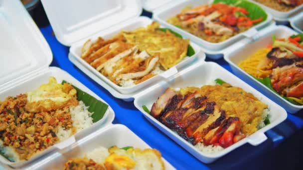 traditional street food in Asia, seafood on the night market