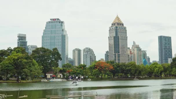 corporate buildings in the business district of the city. business center, financial centers.